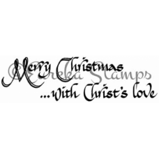 Merry Christmas with Christs Love Digital Stamp