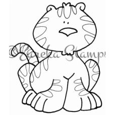 Baby Tiger Digital Stamp