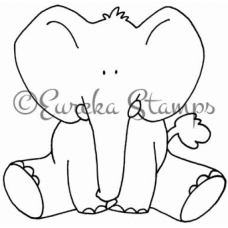 Baby Elephant Digital Stamp