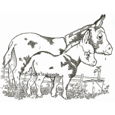 Mare and Foal Digital Stamp