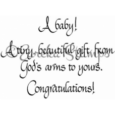 A Baby A Tiny Gift Digital Stamp
