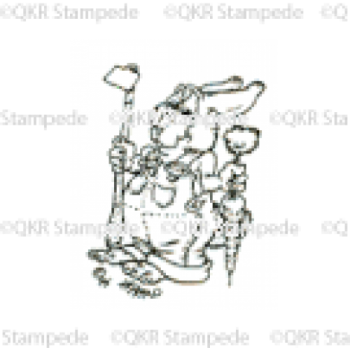 Garden Rabbit Digital Stamp
