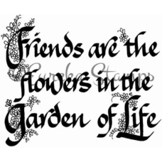 Friends Are The Flowers Digital Stamp