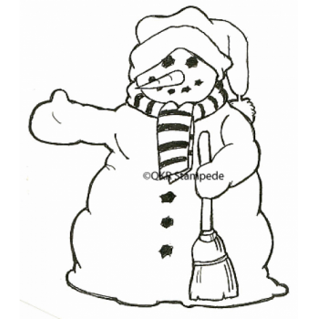 Hitch Hiking Snowman Digital Stamp