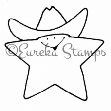Cowboy Star Digital Stamp