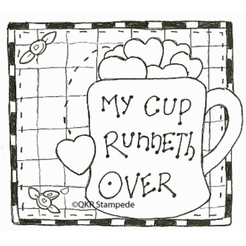 My Cup Runneth Over Digital Stamp