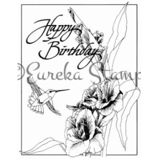 Hummingbird Birthday Digital Stamp
