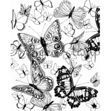Butterfly Background Digital Stamp