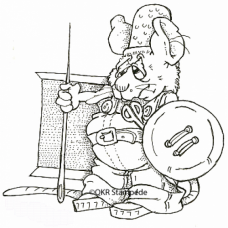 Mouse Knight Digital Stamp