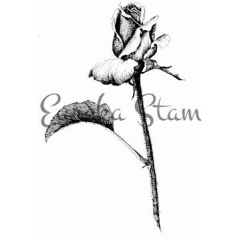 Fine Art Rose Digital Stamp