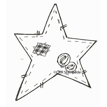 Patchwork Star Digital Stamp