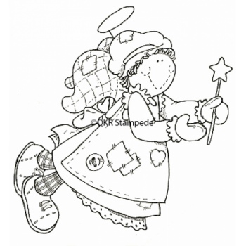 Angel with Star Wand Digital Stamp