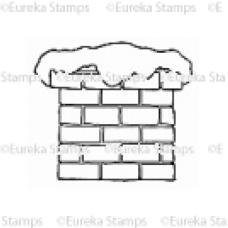 Snow Covered Chimney Digital Stamp
