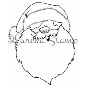 Santa Head Digital Stamp