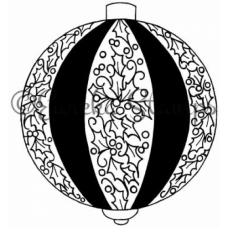 Holly Stripe Ornament Digital Stamp
