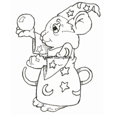 Wizard Mouse Digital Stamp