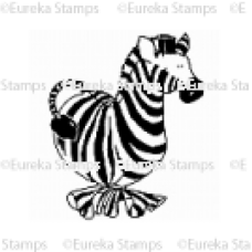 Zebra Balloon Digital Stamp