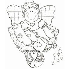 Watering Hearts Digital Stamp