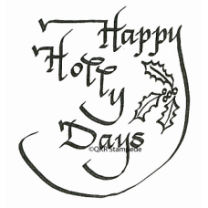 Happy Holly Days Digital Stamp