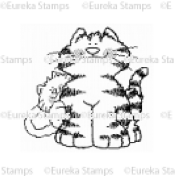 Big n Little Cat Digital Stamp