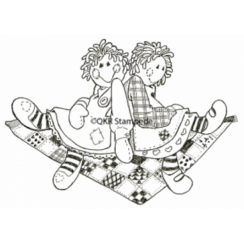 Girl Friends Digital Stamp