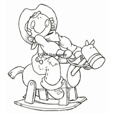 Lil' Cowgirl Digital Stamp