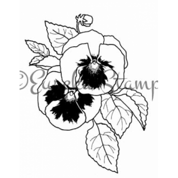 Pansies Digital Stamp