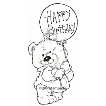 Birthday Bear Digital Stamp