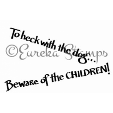 Beware of Children Digital Stamp