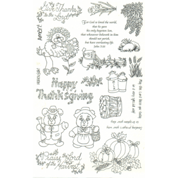 Give Thanks Unmounted Stamps
