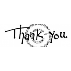 Dot Thank You Cling Stamp