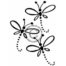 Dragonfly Trio Cling Stamp
