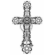 Easter Cross Cling Stamp