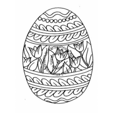 Easter Egg Cling Stamp