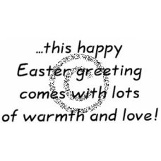 Easter Greeting Cling Stamp