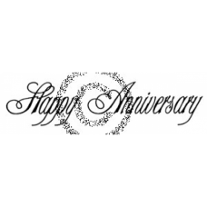 Fancy Happy Anniversary Cling Stamp