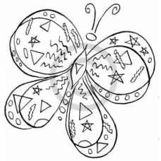 Fantasy Butterfly Cling Stamp