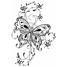 Filigree Butterfly Cling Stamp