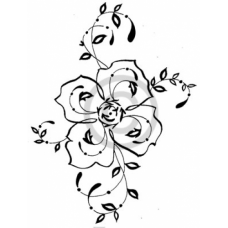 Filigree Rose Cling Stamp