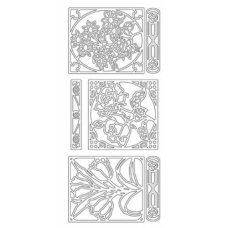 Flower Frames Outline Sticker