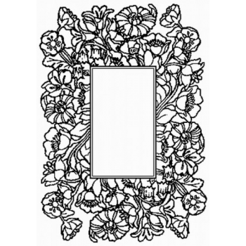 Flower with Frame Art Acetate