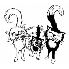 French Felines Cling Stamp