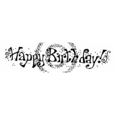 Fun Happy Birthday Cling Stamp
