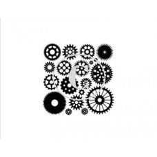 Gears, Art Acetate Background