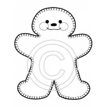 Gingerbread Man Art Acetate