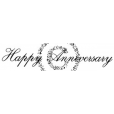 Happy Anniversary Cling Stamp