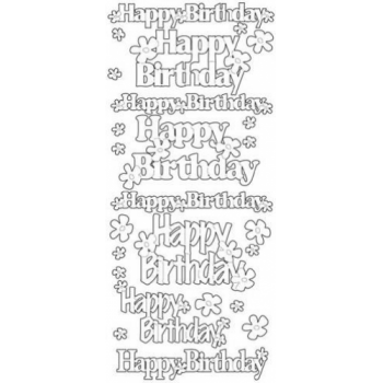 Happy Birthday Lg Outline Stickers