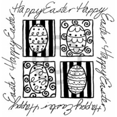 Happy Easter Squares Cling Stamp