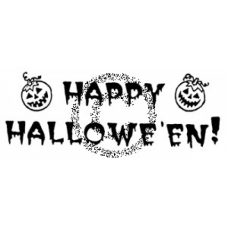 Happy Halloween Cling Stamp