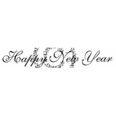 Happy New Year Cling Stamp